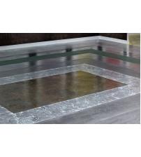 Наливной пол с эффектом золотых трещин MATRIX L2DA106M #403